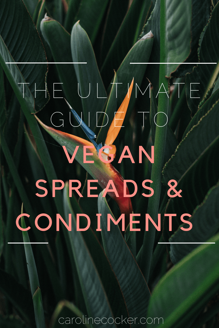 guide to vegan spreads