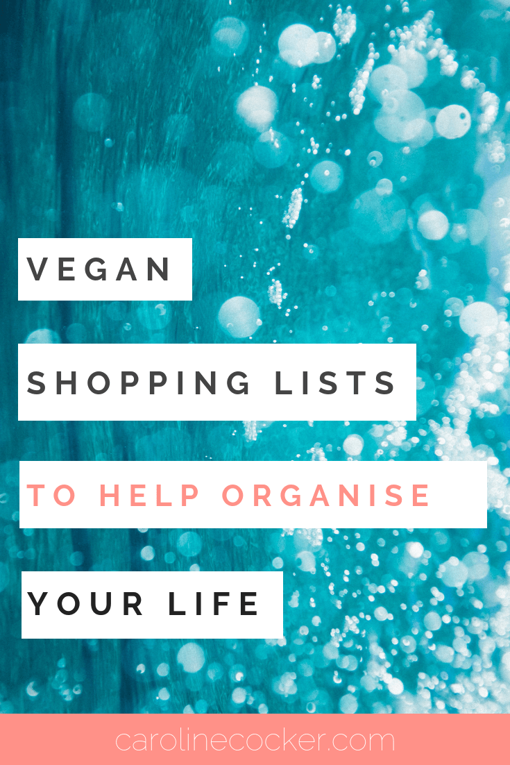 vegan shopping list
